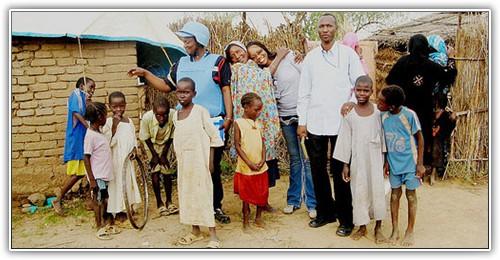 Image de soldats de la paix en Afrique.