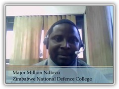 Photo of Major Million Ndlovu.