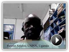 Yuvent Anyero, UNPOL, provides a student testimonial about POTI's training.