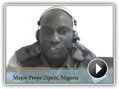 Major Preye Zipele, Nigeria, provides a student testimonial about POTI's training.